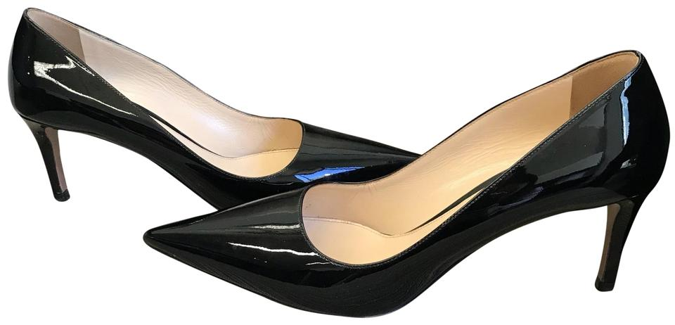 a53094eb606 Prada Black Patent 85 Pointy-toe Pumps Size EU 39 (Approx. US 9 ...