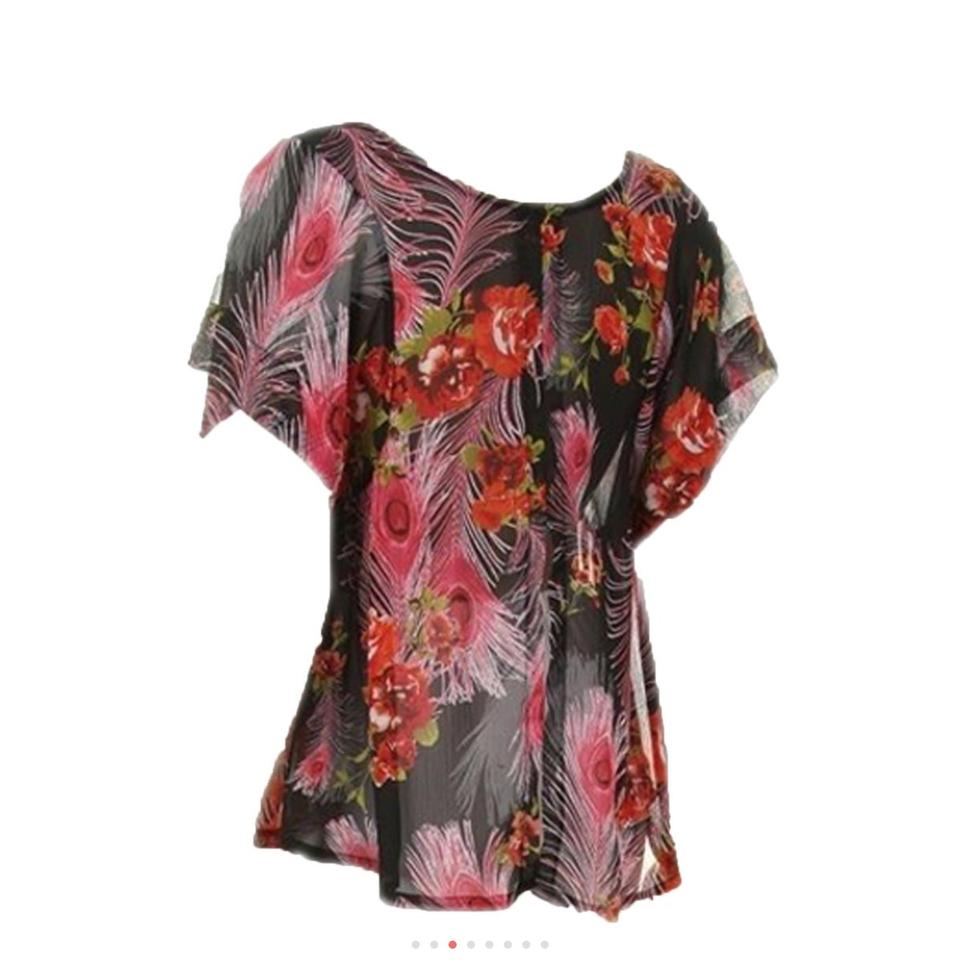 fdfbf53583ec82 Various Chain Or Floral Blouse Size 26 (Plus 3x) - Tradesy