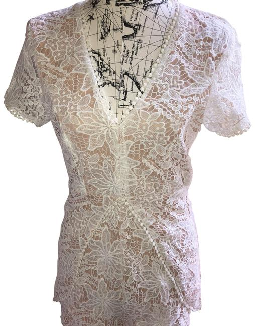 Item - White and Nude Short Night Out Dress Size 6 (S)