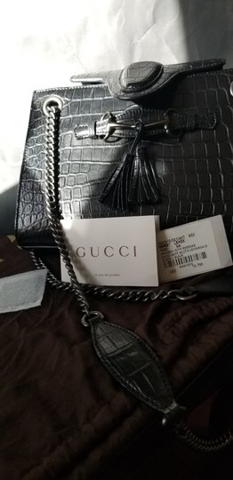 Gucci Cocco Emily Exotic Coll Niloticus Limited Edit Crocodile Shoulder Bag Image 4
