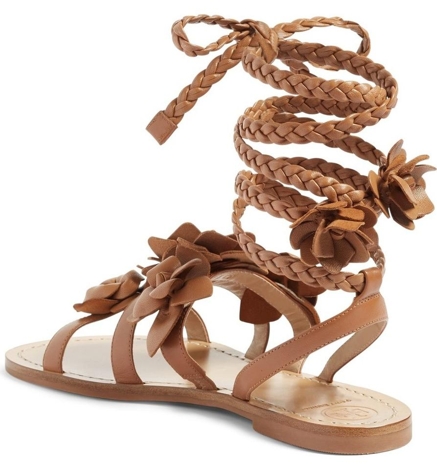 f16a65c31 Tory Burch Gladiator Leather Tan Festival Brown Sandals Image 10.  1234567891011
