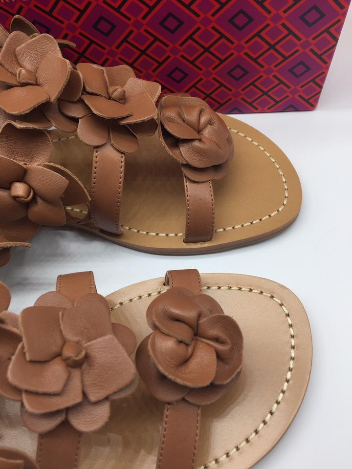 f5896276d4a3 Tory Burch Gladiator Leather Tan Festival Brown Sandals Image 10.  1234567891011