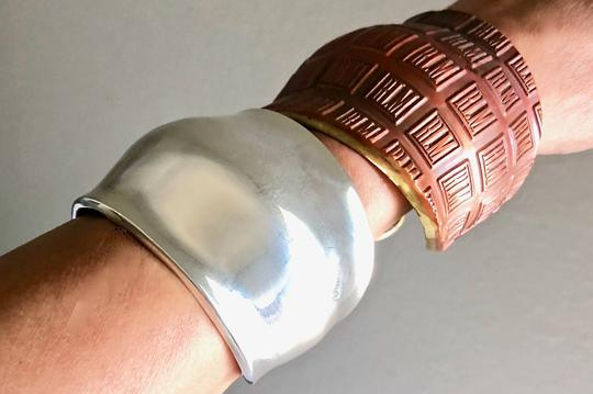 Robert Lee Morris RARE Collectible Gamma Cuff in Sterlling SIlver Image 11