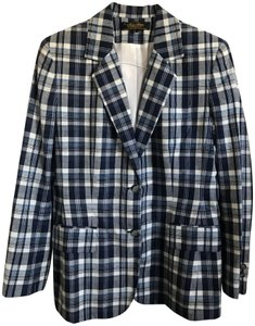 Brooks Brothers Navy Plaid Blazer