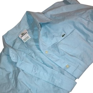 Lacoste Button Down Shirt Baby Blue