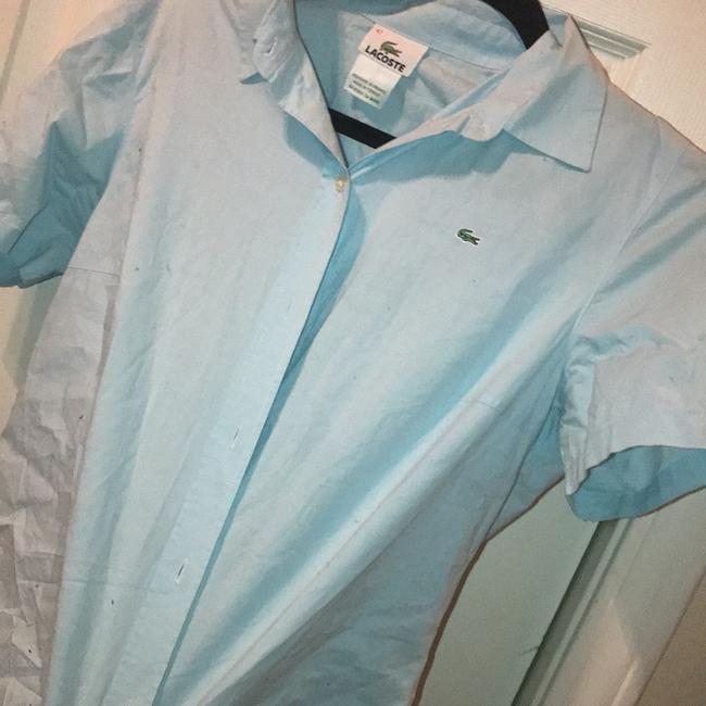 Lacoste Button Down Shirt Baby Blue Image 3