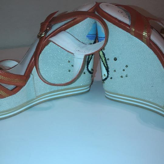 Coach Orange Wedges Image 3