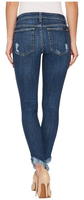Item - Blue/Aydin Distressed The Icon Mid Rise Skinny Ankle Capri/Cropped Jeans Size 32 (8, M)