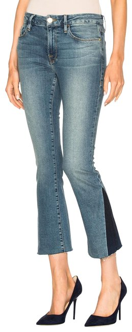 Frame Blue Medium Wash Le Crop Mini Boot Cut Gusset