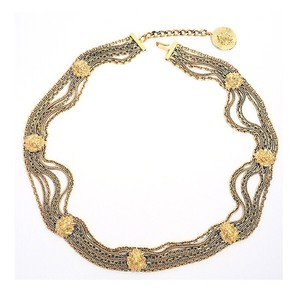 Chanel Vintage Gold Plated Lion Head Chain Belt