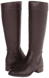 Joan & David Studded Riding Brown Boots