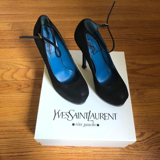 Saint Laurent Ysl Tribute Too Pump Pump Black Platforms Image 6