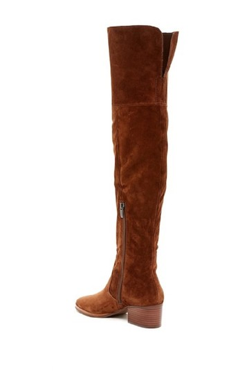 13cfc39eaf4 Via Spiga Brown Ophira Suede Leather Over The Knee Tall Boots ...