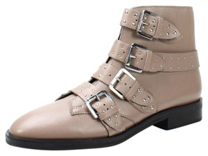Topshop Studded Buckles Ankle Nude Boots