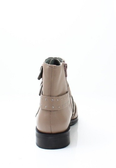 Topshop Studded Buckles Ankle Nude Boots Image 2