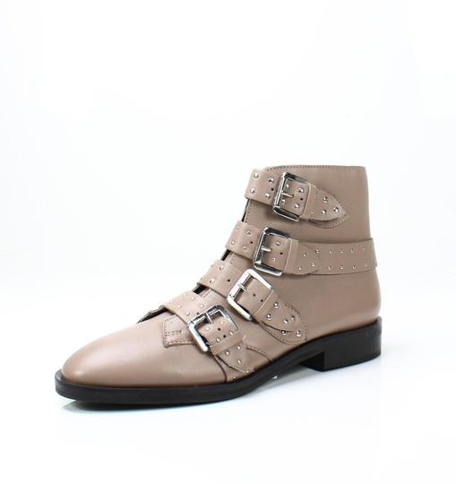 Topshop Studded Buckles Ankle Nude Boots Image 6