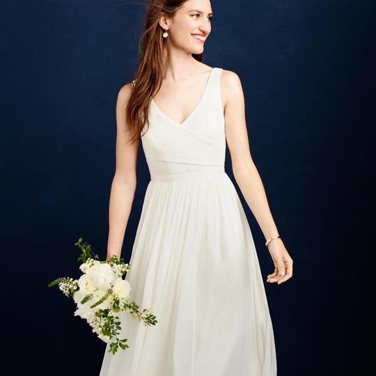 J.Crew Ivory Silk Chiffon Heidi Feminine Wedding Dress Size 4 (S) Image 2