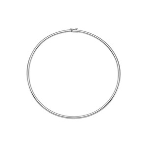 Marco B 4mm 14K White Gold Omega Chain Necklace