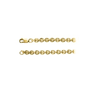 Marco B 5.00mm Cable Silver Chain in 18K Yellow Gold Vermeil