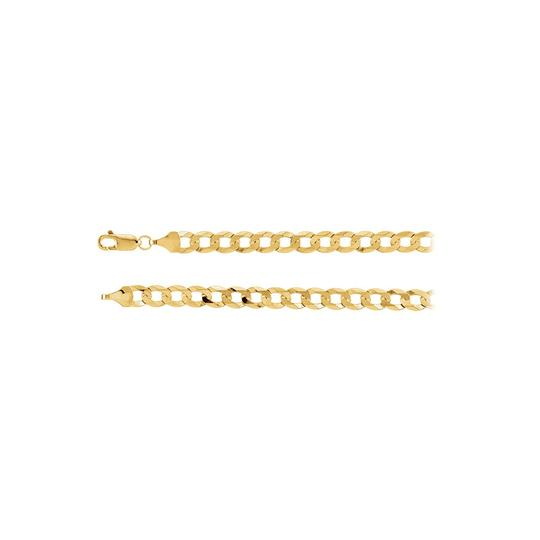 Preload https://img-static.tradesy.com/item/23468441/yellow-58mm-14k-gold-curb-chain-necklace-0-0-540-540.jpg