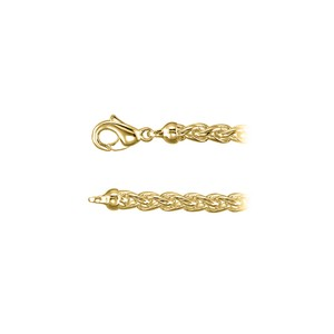 Marco B 6.00mm Solid Wheat Chain Necklace in 18K Gold Vermeil