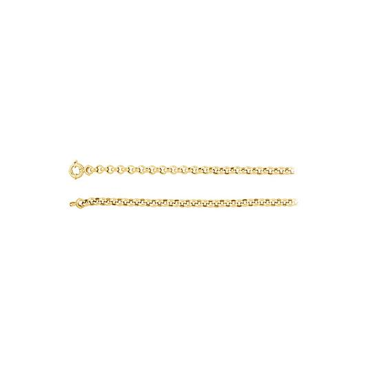 Preload https://img-static.tradesy.com/item/23468470/yellow-65mm-14k-gold-solid-rolo-chain-necklace-0-0-540-540.jpg