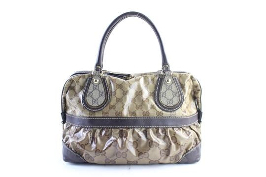 Gucci Bosotn Hysteria Soho Marmont Sylvie Satchel in Brown Image 0