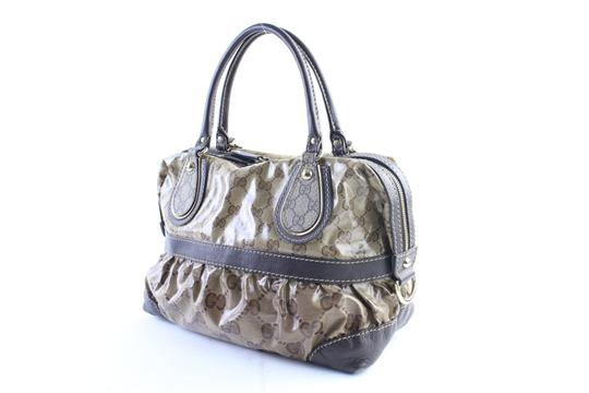 Gucci Bosotn Hysteria Soho Marmont Sylvie Satchel in Brown Image 1