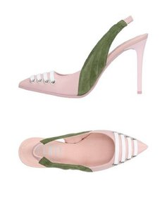 FENTY PUMA by Rihanna Green Suede Leather Pointed Toe Pink Pumps