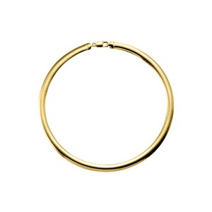 Marco B 7.25mm Omega Chain Necklace in 18K Yellow Gold Vermeil