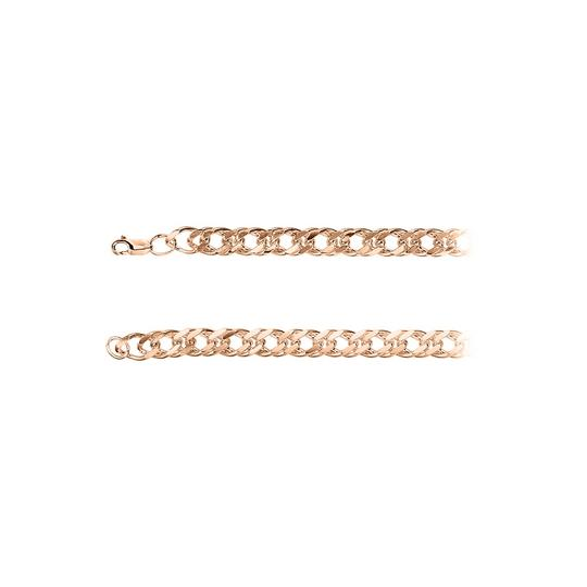Preload https://img-static.tradesy.com/item/23468675/pink-820mm-curb-chain-14k-rose-gold-vermeil-necklace-0-0-540-540.jpg
