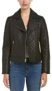 Cole Haan Moto Quilted Biker Leather Jacket