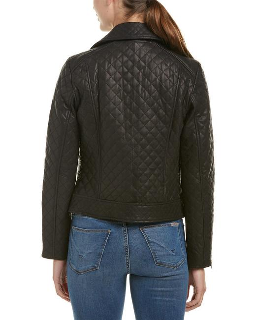 Cole Haan Moto Quilted Biker Leather Jacket Image 1