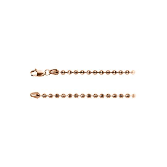 Preload https://img-static.tradesy.com/item/23468748/pink-cool-300mm-bead-silver-chain-in-14k-rose-gold-vermeil-necklace-0-0-540-540.jpg
