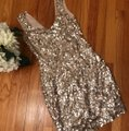 Guess Gold Girls' Night Out 'trophy' Short Cocktail Dress Size 6 (S) Guess Gold Girls' Night Out 'trophy' Short Cocktail Dress Size 6 (S) Image 2