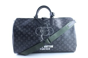 Louis Vuitton Supreme Monogramouflage Monogram Camo Racer Stephen Sprouse Black Travel Bag