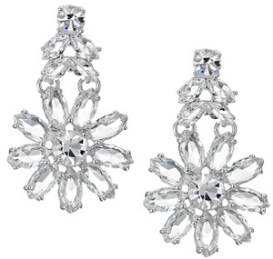 Kate Spade Crystal Bouquet Sparkling Drama Dangle Earrings