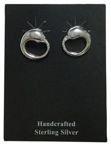 Quicksilver Sterling Silver Circle Post Back Earrings