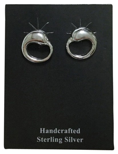 Quicksilver Sterling Silver Circle Post Back Earrings Image 0