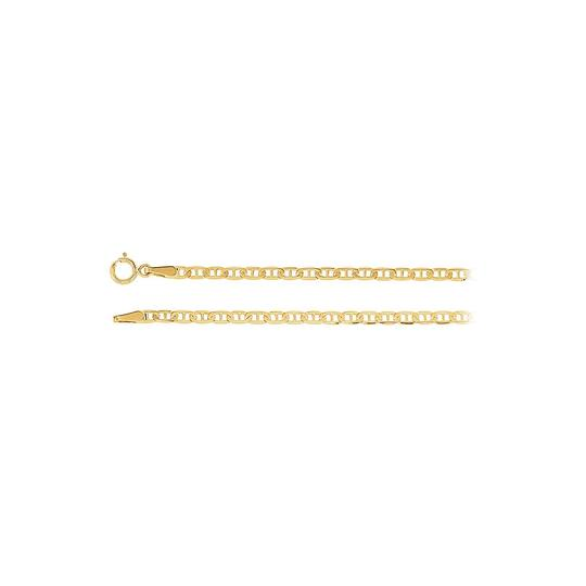 Preload https://img-static.tradesy.com/item/23468938/yellow-solid-anchor-chain-14k-gold-225-mm-necklace-0-0-540-540.jpg