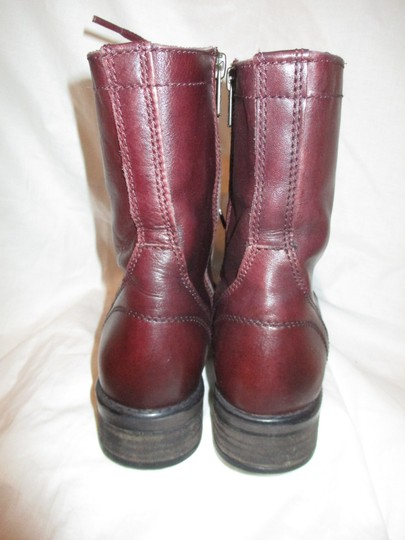 Steve Madden Troopa Leather Combat burgundy Boots Image 6