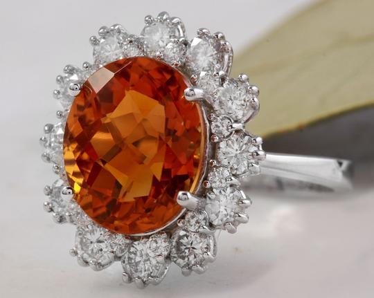 Other 5.90Ct Natural Madeira Citrine and Diamond 14K Solid White Gold Ring Image 1