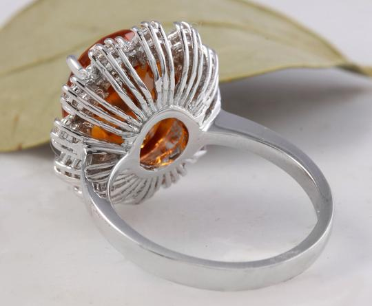 Other 5.90Ct Natural Madeira Citrine and Diamond 14K Solid White Gold Ring Image 3
