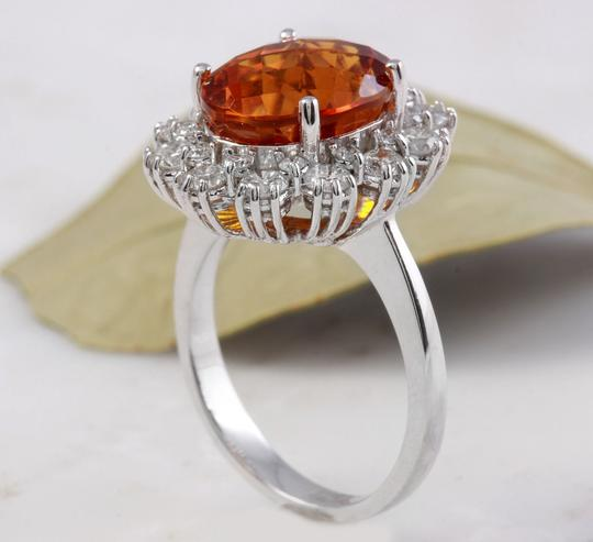 Other 5.90Ct Natural Madeira Citrine and Diamond 14K Solid White Gold Ring Image 4