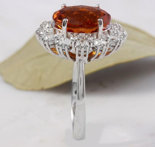 Other 5.90Ct Natural Madeira Citrine and Diamond 14K Solid White Gold Ring Image 5
