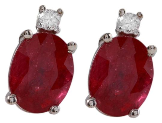 Preload https://img-static.tradesy.com/item/23469335/white-gold-418ct-natural-red-ruby-and-diamond-14k-solid-earrings-0-1-540-540.jpg