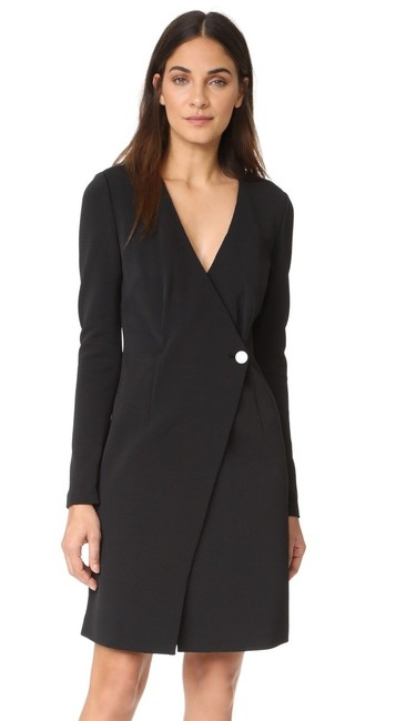 Preload https://img-static.tradesy.com/item/23469400/diane-von-furstenberg-black-dvf-ls-v-neck-button-0-short-workoffice-dress-size-0-xs-0-0-650-650.jpg