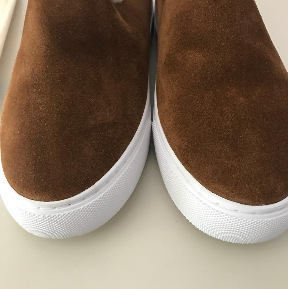 e7f8128836c142 Tory Burch Brown Miller Suede Shearling Sneaker Boots Booties Size US 6  Regular (M