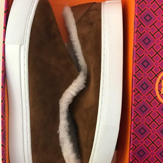 Tory Burch Shearling Ugg Brown Boots Image 2