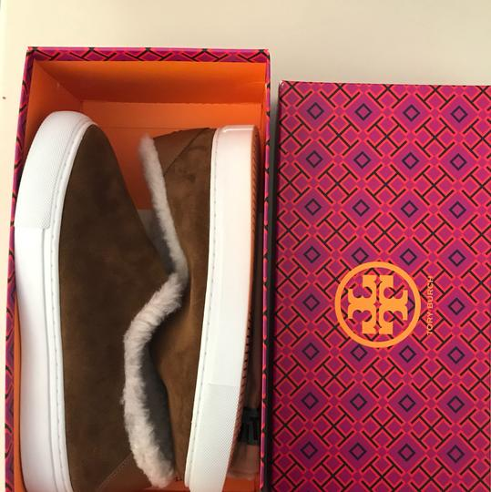 Tory Burch Shearling Ugg Brown Boots Image 3